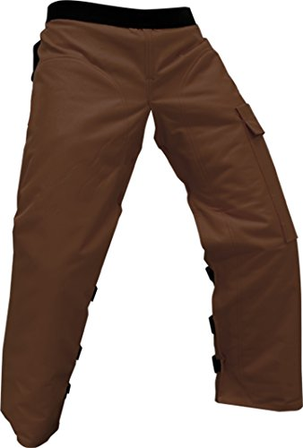 Forester Chainsaw Apron Chaps with Pocket, Brown 37' Length
