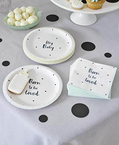 Talking Tables BORN-PLATE-SML kartonnen bord voor babyparty 12 St, Paper