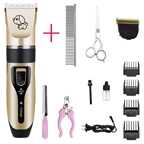 No-branded Dog Clippers Aufladbare Low-Noise-Haustier-Haar-Scherer-Remover Kosmetik Trimmer Elektrische Haustiere Hair Cut-Maschine (Color : C6 kit 3, Size : 1)