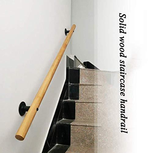 LZLYER Barandillas Pasamanos Push-Tull Handas Manijas de Puerta Madera Ampliés de la Escalera Antideslizante, Hogar Contra la Pared Interior Loft Barandillas de Ancianos Rodilla de Soporte de