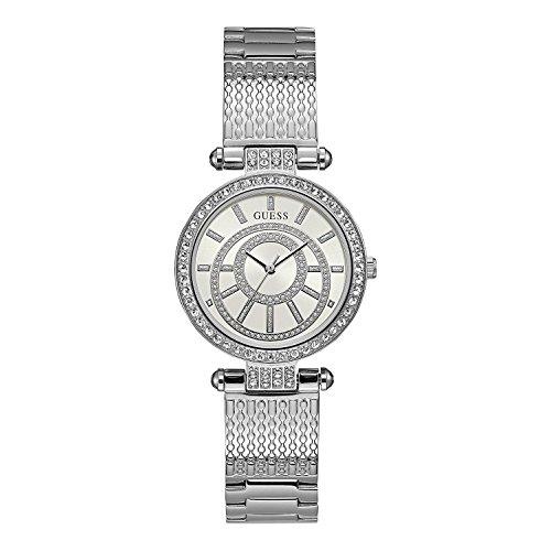 GUESS Muse Damen-Armbanduhr 32mm Armband Edelstahl + Gehäuse Quarz W1008L1