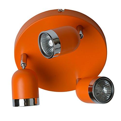 MW-Light 546021103 Sistema de Focos Giratorios en Color Naranja A 3 Luces en el Dormitorio Para Sala de Estar 3 x 35W Gu10 Bombillas Incluidas