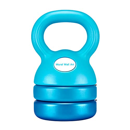 Mural Wall Art Kettlebell Weight Set 5-12 Pounds: Strength Training Adjustable Dumbbell Fitness Equipment for Home Gym Clearance Workout & Exercise Suitable for Women Men Kids