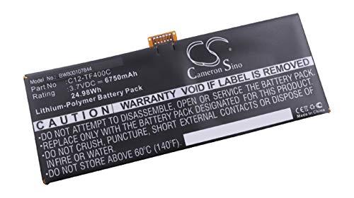 vhbw Batterie Compatible avec ASUS Transformer Pad TF303CL, TF303CL 1D, TF303CL-1D023A, TF303CL-1D031A Tablette (6750mAh, 3,7V, Li-polymère)
