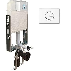 Cisterna empotrada para inodoro con elementos de montaje empotrados