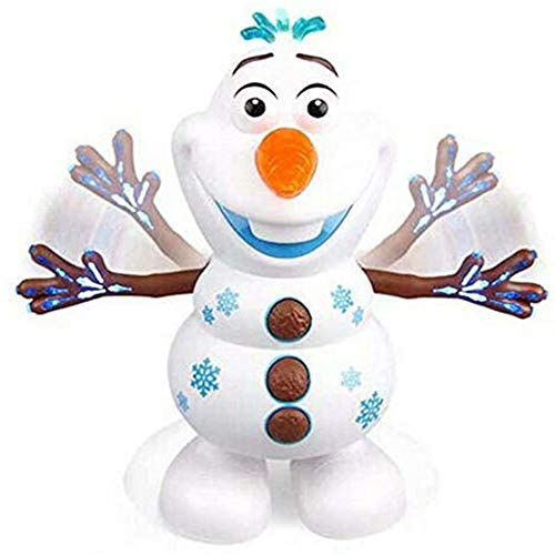 Electric Dancing Music Snowman Toy,Electric Singing Dancing Snowman Olaf Robot Toy With Music LED Flashing Lights Baby Educational Gifts