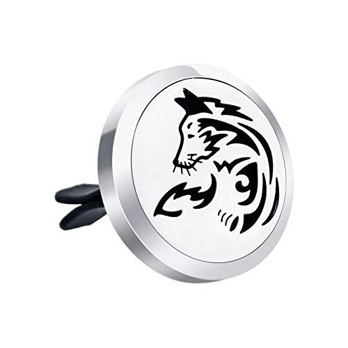 Preisvergleich Produktbild Ätherisches Öl Diffusor Halsketteniedliche Tier Schmetterling Katze Ätherisches Öl Auto Diffusor Vent Clip Edelstahl Magnet Parfüm Medaillon