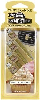 Yankee Candle Vela en jarro pequeño, Aroma de Cupcakes de Vainilla, Auto, Car Vent Stick, 1, 1
