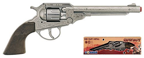 Gonher - Revolver Cowboy con 8 Disparos, Color Metal (88/0)