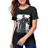 Womens 3D Print Sam Hunt Short Sleeve Tops Tee Ladies Summer Casual Shirt XL Black
