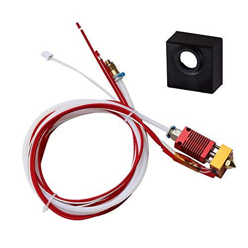 Gobesty Ender 3 Extruder Hotend Kit, Extruder Hot End con boquilla de 0,4 mm filamento de 1,75 mm para impresora 3D Creality Ender 3, Ender 3X, Ender 3 Pro impresora 3D, 24 V 40 W