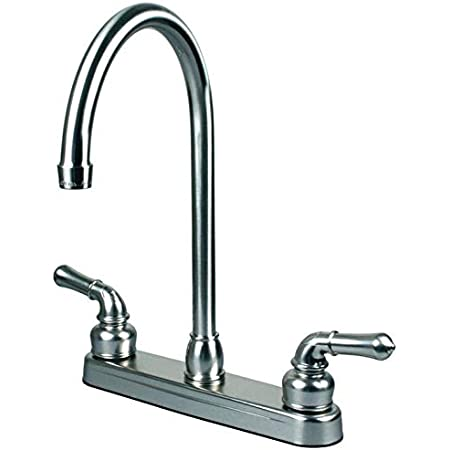 rv mobile home kitchen sink travel motor trailer faucet chrome