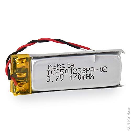 Renata / Swatch Group - Batería Li-Po 1S1P ICP501233PA + PCM UN38.3 3.7V 175mAh