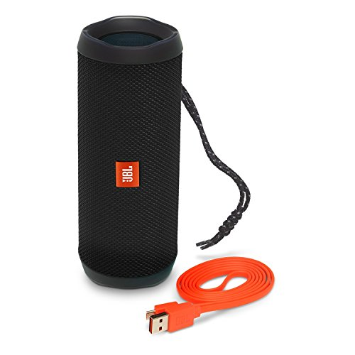 JBL Flip 4 Waterproof Portable Bluetooth Speaker (Black) (Renewed)