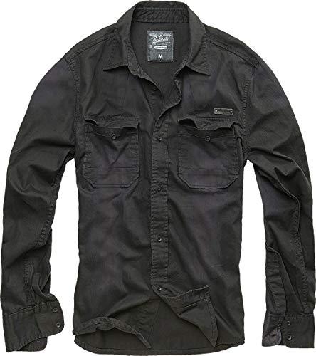 Brandit Hardee Denim Shirt Chemise, Noir, XL Homme