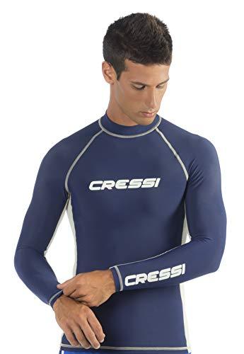 Cressi para Hombre Rash Guard para natación, Surf, Buceo con protección Solar | Manga Larga Rash Guard: Calidad Desde 1946
