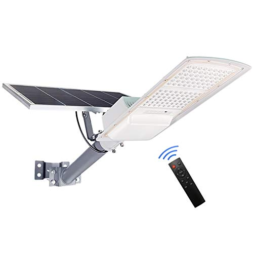 200W Solar Outdoor Street Lights ,18000 Lumens Dusk to Dawn Solar Led Light with Remote Control, 6000K Daylight White Solar Security Flood Lights for Yard, Street, Basketball Court, Parking lots,Garde