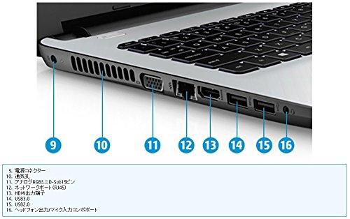 『HP 14型 ノート PC 【 オフィス 2013 / Windows 10 Home / Celeron / 4GB / 500GB / DVDスーパーマルチドライブ / HD Webカメラ / 無線LAN / Bluetooth 】』の8枚目の画像