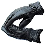 Southpole Fashions Black Genuine leather Warm Winter Gloves for men.
