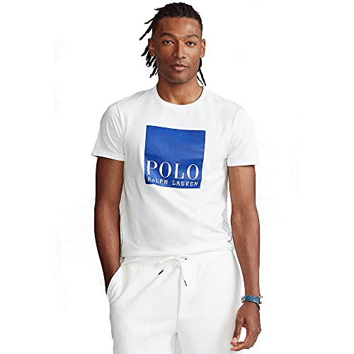 Polo Ralph Lauren Camiseta para Hombre Custom Slim Fit 565536 (XXL, White)