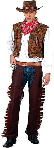 (L) Herren Western Cowboy Kostüm für Wilder Westen Kostüm Herren Herren L