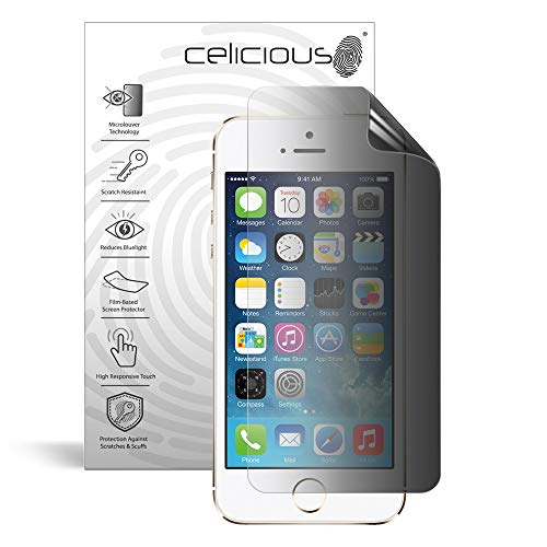 Celicious Privacy 2-Way Anti-Spy Filter Screen Protector Film Compatible with Apple iPhone 5s