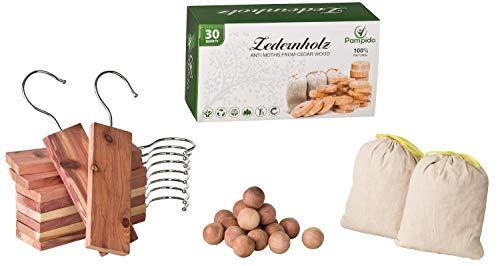 Protección de cedro natural orgánico contra las polillas protección para madera, para la ropa, para el armario. Repelente de polilla sin químicos contra las polillas 100% natural(30)