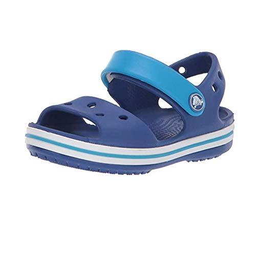 Crocs Crocband Sandal Kids, Sandali con Cinturino alla Caviglia Unisex – Bambini, Blu (Cerulean Blue/Ocean), 22/23 EU
