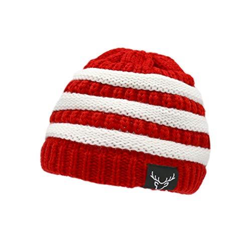 Baby Santa Hat Toddler Christmas Hats Beanies Warm Winter Kids Santa Hat Red White Stripes