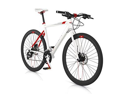 MBM Skin, Bicicletta Ibrida Uomo, Bianco A28, 50