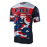 2021 Equipo Fox MTB Jersey Downhill Camiseta De Motocross Enduro Maillot Hombre Cycling Jersey Men Bike Shirts-M