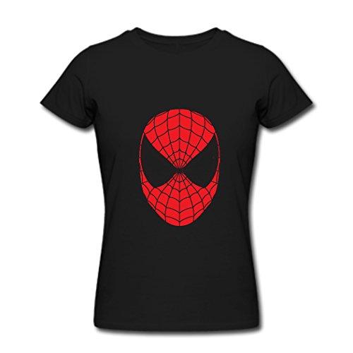 Ty Spider Man Cara Logo T Shirt para Mujer Negro