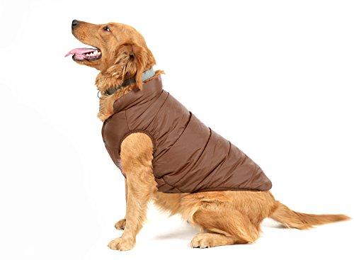 PENVO Ropa para Perros de Mascotas, Abrigos y Chaquetas Impermeables de Invierno para Perros pequeños y medianos Grandes Chaleco de Perro Cachorro Traje de suéter (Marrón, XXL)