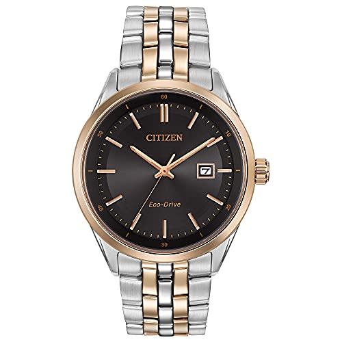 Citizen Eco-Drive Corso Quartz Men's Watch, Stainless Steel, Classic, Two-Tone (Model: BM7256-50E)