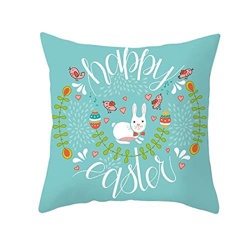 Funda de cojín de Pascua para sofá, decoración del hogar, amigos, festival, fiesta