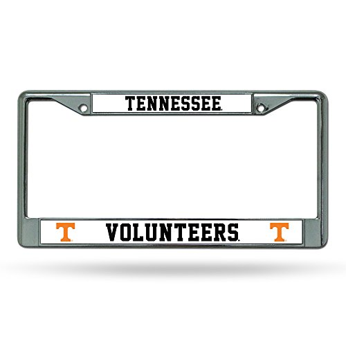 NCAA Rico Industries Standard Chrome License Plate Frame, Tennessee Volunteers , 6 x 12.25-inches