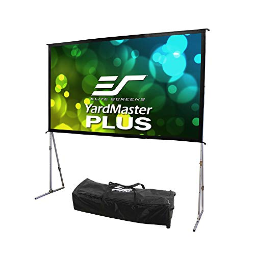 Elite Screens Yard Master Plus Series, 200-INCH, 16:9, 8K Ultra HD 3D Ready Indoor/Outdoor Portable Foldaway Home/Movie/Theater Projector Screen, Front Projection - OMS200H2PLUS, 2-YEAR WARRANTY