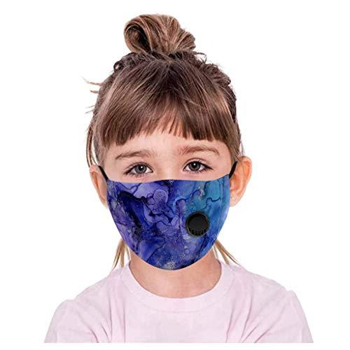 PPangUDing Face Shield Multifunktionstuch Kinder Junge Mädchen Mundschutz Waschbar Baumwolle mit Ventil Atmungsaktive Staubdicht Multifunktional Halstuch Schlauchtuch