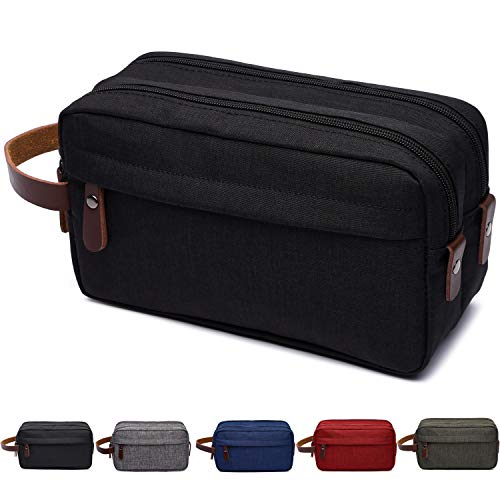 Men's Toiletry Bag Travel Dopp Kit Bathroom Shaving Organizer for Toiletries(Black)