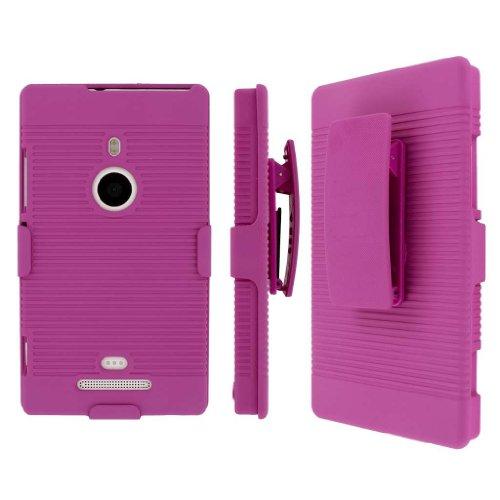 MPERO Empire Cover Kickstand Rigida Antiurto per Nokia Lumia 925, Colore: Rosa Acceso