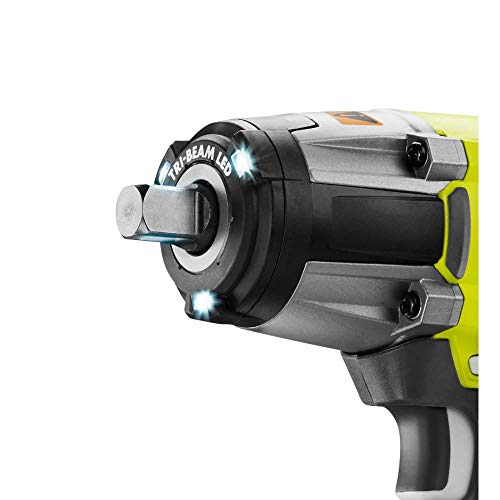Ryobi P261 18 Volt One+ 3-Speed 1/2 Inch Cordless Impact Wrench w/ 300 Foot Pounds of Torque and 3,200 IPM (Batteries Not Included, Power Tool Only) (Renewed)