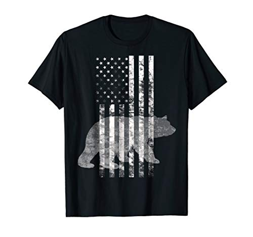 Patriotic Hunting Bear American flag t-shirt Hunters