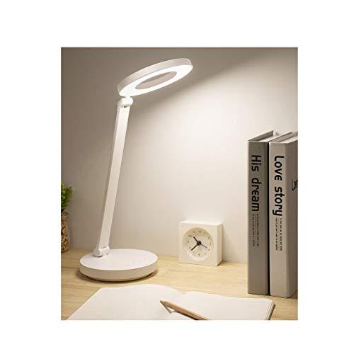 LICHUAN Lámpara de escritorio plegable LED lámpara de mesa recargable, temperatura de color de 3 niveles, ajuste de brillo de 5 niveles, para dormitorio, estudio y oficina
