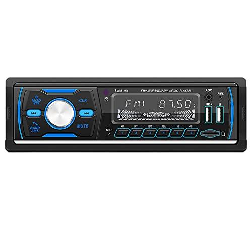 Radio De Automóvil, Call Estéreo Bluetooth Llamada Con Manos Libres, Soporte FM / MP3 / TARJETA DE USB/SD/Entrada AUX, Búsqueda Automática De La Estación, Música De Alta Calidad