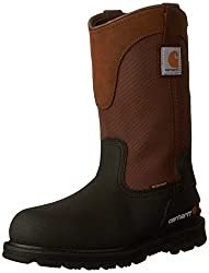 "Carhartt Men's 11"" Wellington Waterproof Steel Toe Leather Pull-On Work Boot CMP1259"