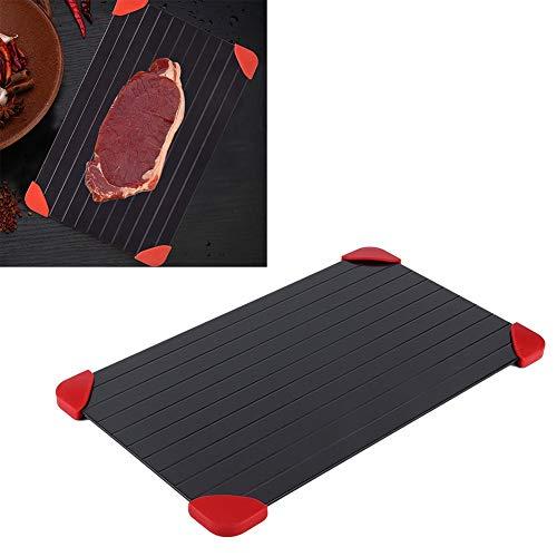 Ruiqas Schnellauftauplatte aus Aluminium, für Lebensmittel, Fleisch, gefrorene Auftauplatte, Küchenhelfer, kein Strom, keine Chemikalien, keine Mikrowelle