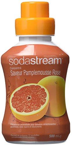 Sodastream Concentré Sirop Saveur Pamplemousse Rose pour Machine à Soda 500 ml