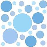 PREMYO 25 Puntos Pegatinas Pared Infantil - Vinilos Decorativos Habitación Bebé Niña Niños - Fácil de Poner Azul Pastel