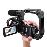 Mugast Caméra vidéo numérique HDR-AE8 4K HD, caméscope 16M WiFi 30M à écran Tactile 3 Pouces avec Vision Nocturne et capteur 8M CMOS pour Les Amoureux de la Photographie(#1)