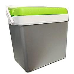 JEMIDI cool box 24 liter isoleret box cool box i grå / grøn (grøn / grå)